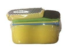 KAJA Súprava na umývanie auta, 6 ks: 1 x utierka mikrovlákno, 2 x savá utierka, 1 x obojstranná špongia na sklo, 1x špongia na mierku hladiny oleja