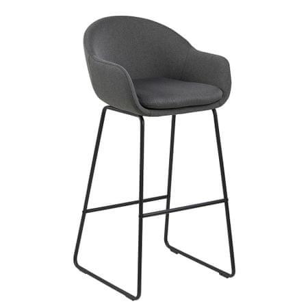 Design Scandinavia Barová židle Melina (SET 2 ks), tm. šedá