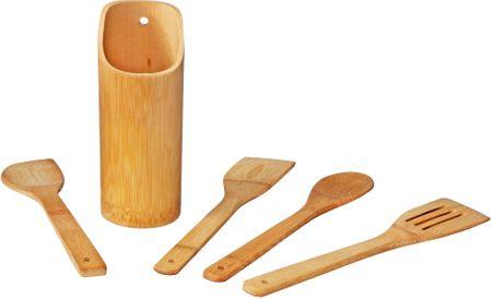TimeLife 5 darabos főzési kiegészítőkészlet állvánnyal, bambusz