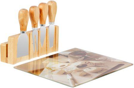 TimeLife Servírovací sada na sýr, bambus