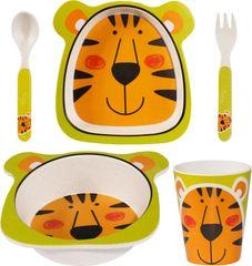 TimeLife Snídaňová sada pro děti, motiv tygr, bambus