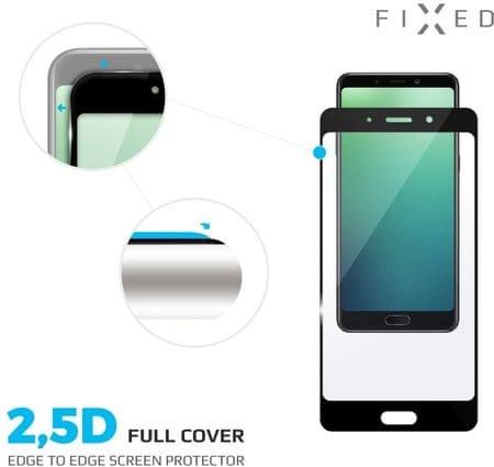 Fixed szkło hartowane Full-Cover do Huawei P20 Lite, na cały ekran, czarne, 0.33 mm FIXGF-278-BK