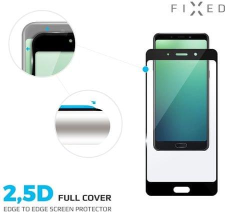 Fixed Full-cover ochranné tvrzené sklo pro Huawei P20 Pro, přes celý displej, černé, 0.33 mm - použ