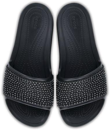 b0593401a704 Crocs Sloane Embellished Slide Black Black W7 (37