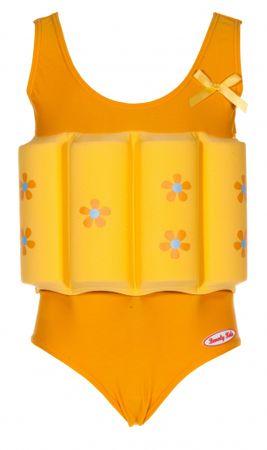 Beverly Kids Dívčí nadnášející plavky s kytičkami 104 žluté
