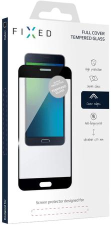 Fixed Keményített védőüveg Samsung Galaxy A3 (2017) számára, teljes kijelzőre, fekete FIXGF-157-033BK