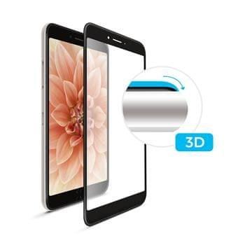 Fixed Ochranné tvrdené sklo 3D Full-Cover pre Samsung Galaxy A8 (2018), cez celý displej, čierne