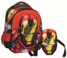 GIM Ovális ovis hátizsák Iron Man maszkkal