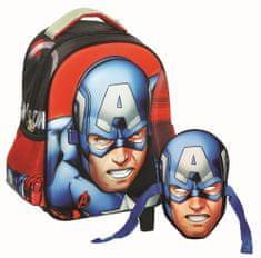 GIM Ovális ovis hátizsák Captain America maszkkal