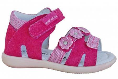 7374ae143ef2 Protetika Dievčenské sandále Hena 23 ružové