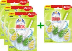 Duck Active Clean Citrus WC-frissítő, 3+1 db