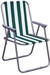 Happy Green Strandszék, zöld csíkos