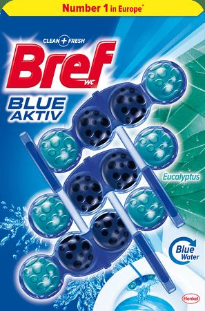 Bref sredstvo za čišćenje wc-a Blue Aktiv Eucalyptus, 3 x 50 g