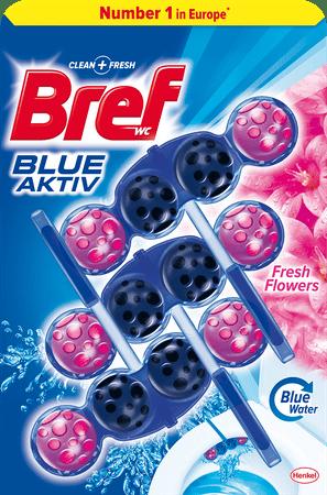 Bref sredstvo za čišćenje wc-a Blue Aktiv Fresh Flower 3 x 50 g