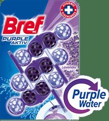 Bref sredstvo za čišćenje wc-a Purple Aktiv Lavender 3 x 50 g