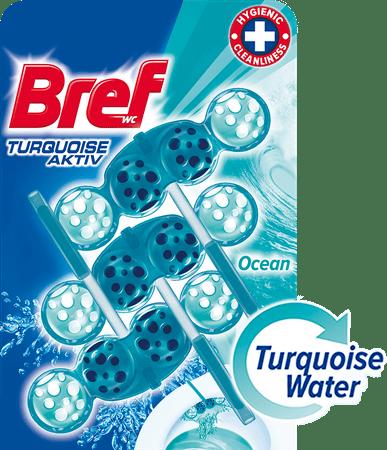 Bref sredstvo za čišćenje wc-a Turquoise Aktiv Ocean 3 x 50 g