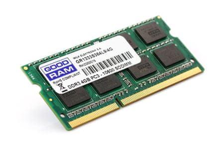 GoodRam RAM za prenosnike SODIMM DDR3 4GB, PC3-12800 (1600MHz), CL11, 1,35
