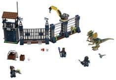 LEGO JurassicWorld 75931 Dilophosaurus támadás az előörs ellen
