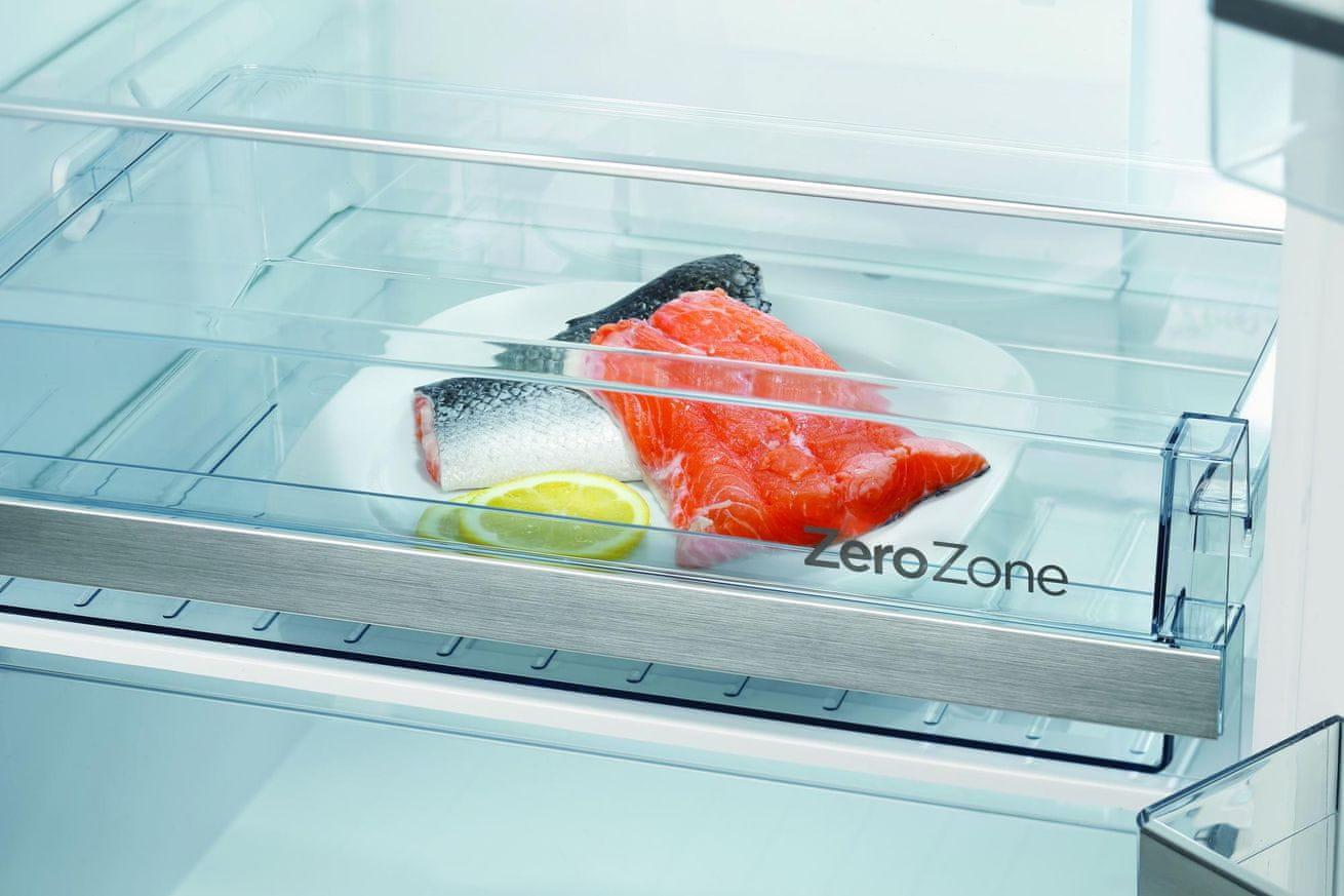 Kombinovaná chladnička s mrazničkou Gorenje NRK6193TX4 zásuvka ZeroZone