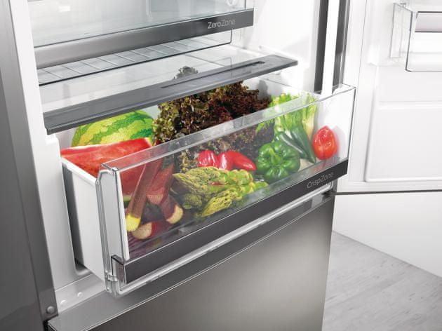 Kombinovaná chladnička s mrazničkou Gorenje NRK6193TX4 Zásuvka CrispZone