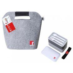 BERGNER posoda za malico 1,2 l set 2/12 + torba + pribor, siva