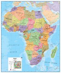 Afrika politická nástěnná mapa 100x120 cm