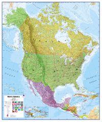 Severní Amerika politická nástěnná mapa 120x100 cm