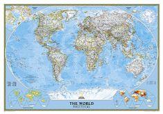 Svět politický nástěnná mapa 111x77 cm National Geographic