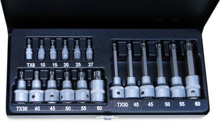 """ATX dugókulcs készlet 1/4"""" és 1/2"""" 19 db"""