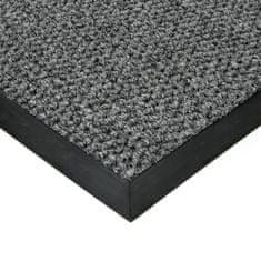 FLOMA Šedá textilní zátěžová čistící vnitřní vstupní rohož Fiona, FLOMA - 1,1 cm