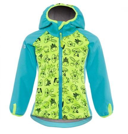 good2go chlapčenská softshellová bunda GOOD2GO 80 žltá/modrá
