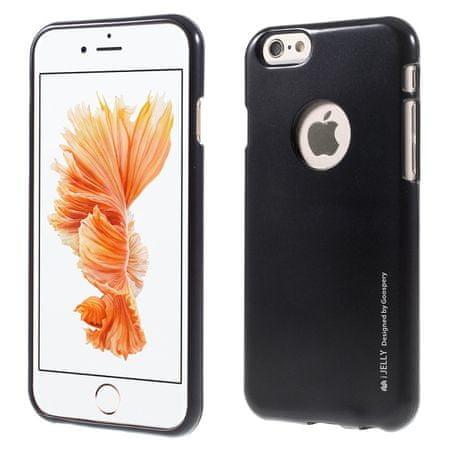 Goospery i-Jelly Metal silikonski ovitek za iPhone X, črn