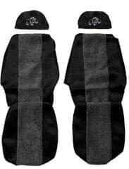 F-CORE Poťahy na sedadlá PS17, sivá