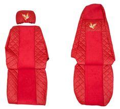 F-CORE Poťahy na sedadlá FX03, červené