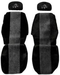 F-CORE Poťahy na sedadlá PS02, sivá