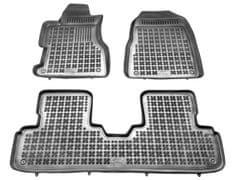 REZAW-PLAST Gumové koberce, súprava 3 ks (2x predné, 1x spojený zadný), HONDA Civic (3 dvere) 2001-2005