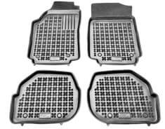REZAW-PLAST Gumové koberce, súprava 4 ks (2x predné, 2x zadné), Audi 100 1982-1994, Audi A6 1994-1997 a Audi A6 Avant 1994-1997