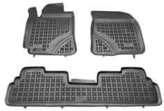 REZAW-PLAST Gumové koberce, súprava 3 ks (2x predné, 1x spojený zadný), Toyota Corolla Verso II 2004-2009