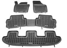 REZAW-PLAST Gumové koberce, súprava 4 ks (2x predné, 1x spojený stredný, 1x spojený zadný), VW Sharan a Seat Alhambra