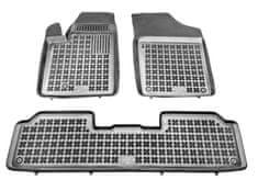 REZAW-PLAST Gumové koberce, súprava 3 ks (2x predné, 1x spojený zadný), Citroen Berlingo I 1997-2010, Peugeot Partner I 1997-2008