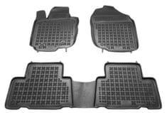 REZAW-PLAST Gumové koberce, súprava 3 ks (2x predné, 1x spojený zadný), Toyota RAV4 III 2006-2012