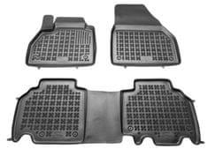 REZAW-PLAST Gumové koberce, súprava 3 ks (2x predné, 1x spojený zadný), Renault Kangoo od r. 2008
