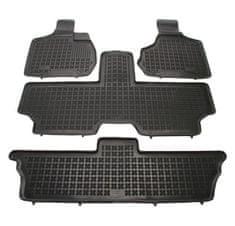 REZAW-PLAST Gumové koberce, súprava 4 ks (2x predné, 1x spojený stredný, 1x spojený zadný), Chrysler Voyager