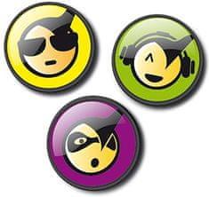 Nikidom Sada odznakov Roller Pins Emoticons Cool