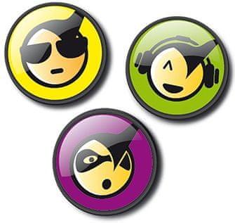 Nikidom Roller Pins Emoticons Cool komplet značk