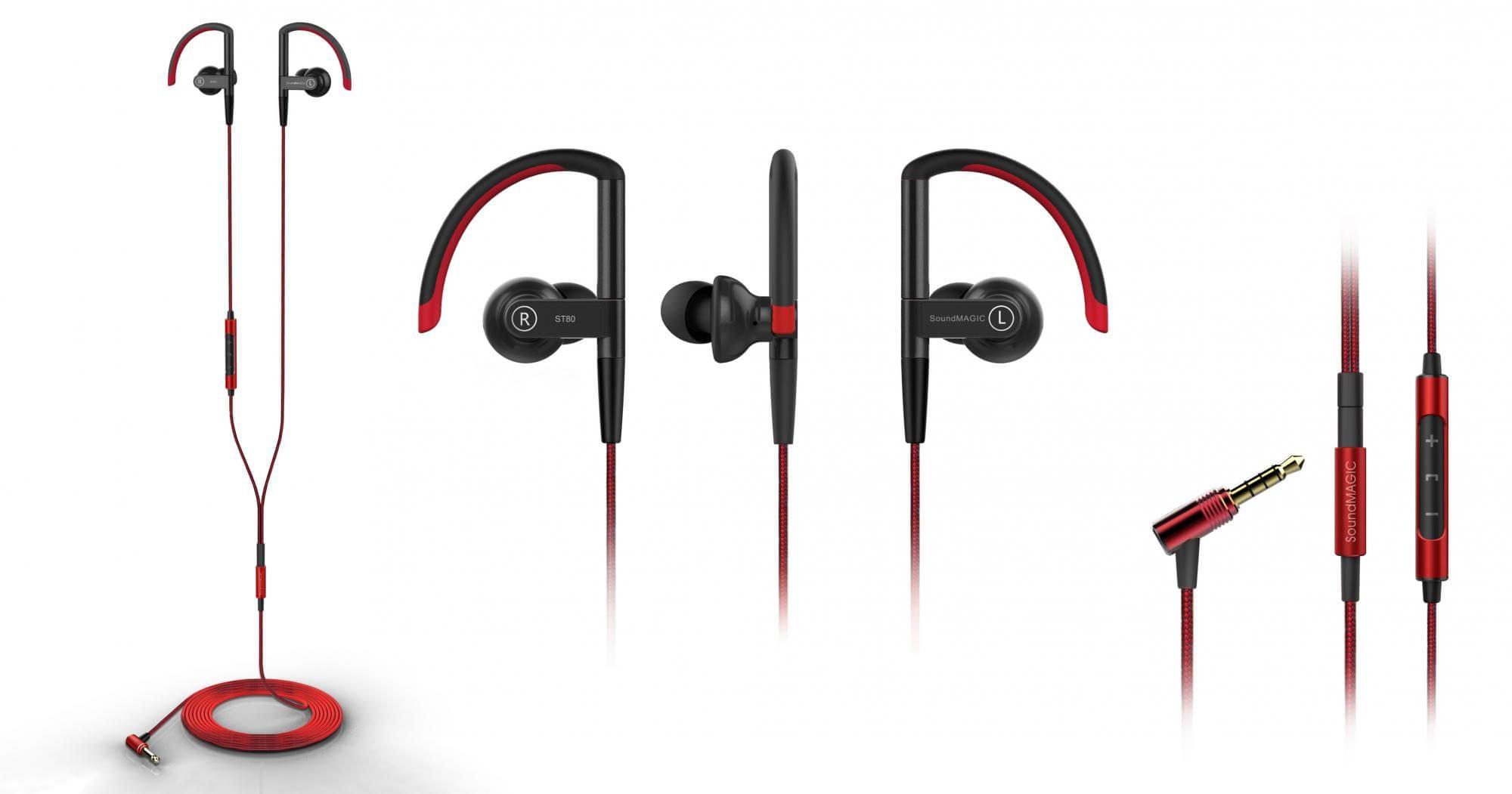 Sluchátka SoundMAGIC ST80 odolné proti vlhku a potu výdrž baterie 8h špuntová sluchátka
