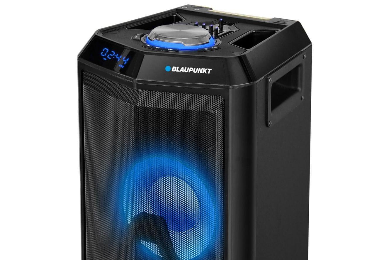 hordozható bluetooth hangszóró Blaupunkt PS10DB, BT, Karaoke, LED USB port AUX-IN mp3 vma
