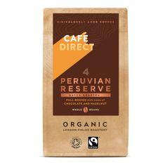 Cafédirect BIO Peru Reserve zrnková káva 227g