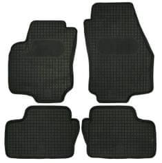 POLGUM Gumové koberce, súprava 4 ks, čierne, pre vozidlá Opel Astra a Zafira B