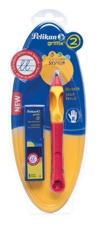 Pelikan olovka za dešnjake Griffix 2, crvena